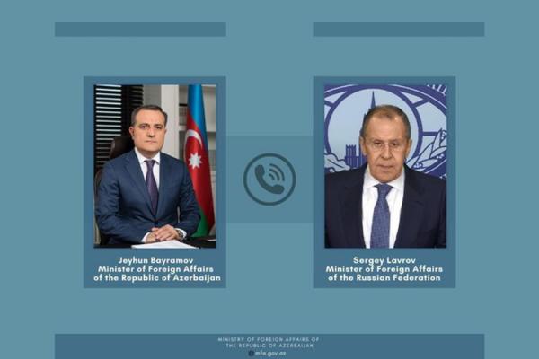 Ceyhun Bayramov və Lavrov Moskva bəyanatını müzakirə ediblər